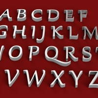 Small GABRIOLA font uppercase and lowercase 3D letters STL file 3D Printing 249073