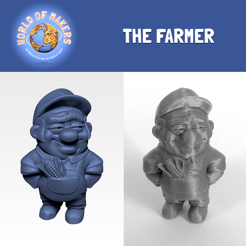 """The Farmer"" from the World of Makers series 3D Print 24924"