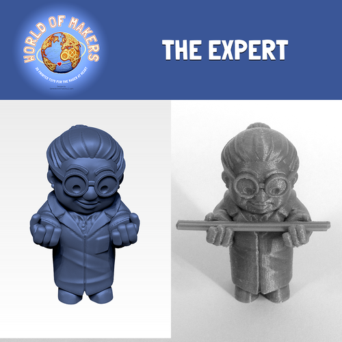 """The Expert"" from the World of Makers series 3D Print 24940"