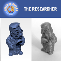 "Small ""The Researcher"" from the World of Makers series 3D Printing 24941"