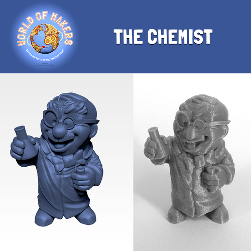 """The Chemist"" from the World of Makers series 3D Print 24946"