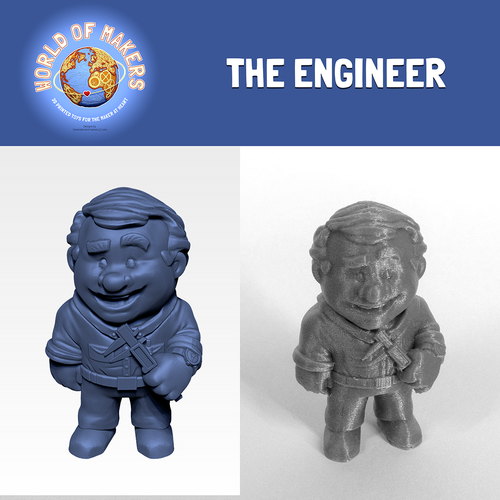 """The Engineer"" from the World of Makers series 3D Print 24947"