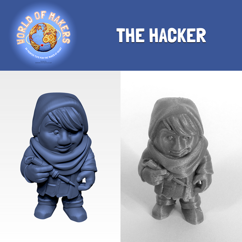 """The Hacker"" from the World of Makers series 3D Print 24950"