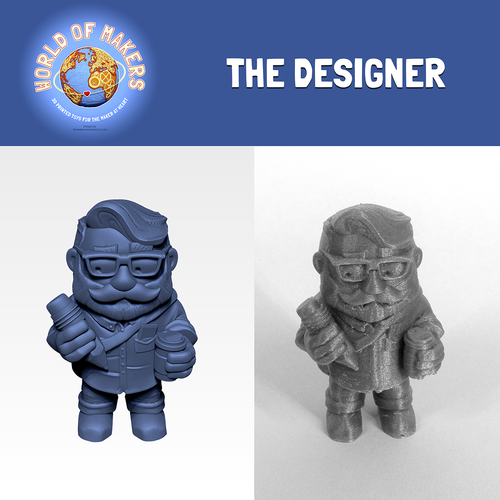 """The Designer"" from the World of Makers series 3D Print 24953"