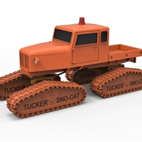 Small Diecast model Tucker Sno-Cat 442a Scale 1 to 24 3D Printing 249576