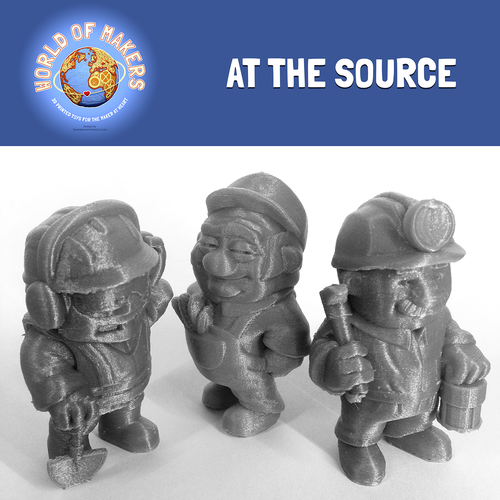 """At the Source"" collection from the World of Makers series 3D Print 24961"