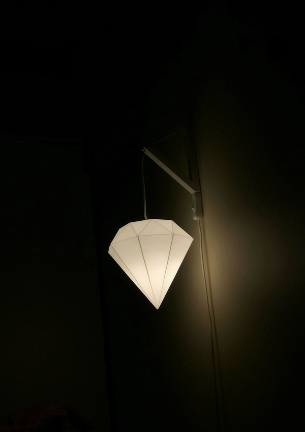 Medium Diamond shaped lamp 3D Printing 249696