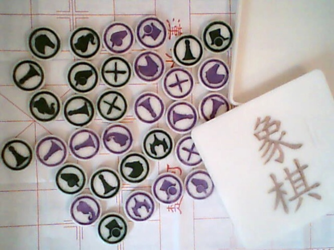 Iconified Xiangqi set - Chinese Chess 3D Print 2497