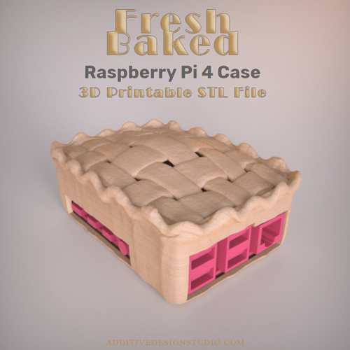 Fresh Baked Raspberry Pi 4 Case 3D Print 249746