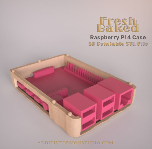 Fresh Baked Raspberry Pi 4 Case 3D Print 249747