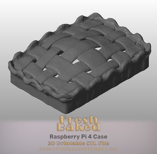 Fresh Baked Raspberry Pi 4 Case 3D Print 249749