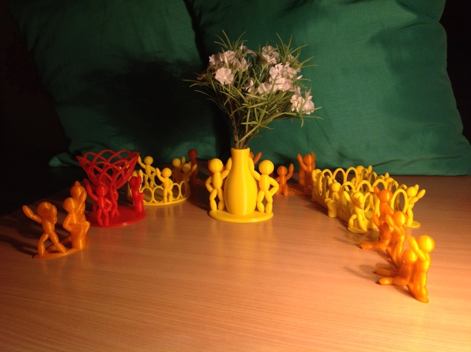 The Thingummies welcome your friends with flowers 3D Print 24978