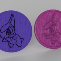 Small Pokemon go coasters (pair) 3D Printing 250016