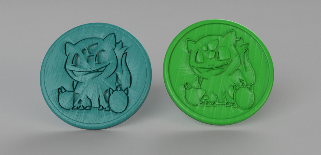 Bulbasaur coasters (pair) 3D Print 250020