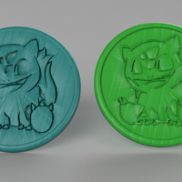 Small Bulbasaur coasters (pair) 3D Printing 250020