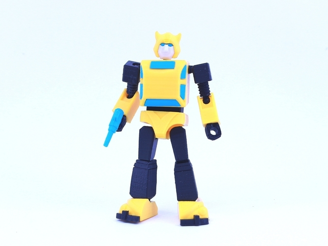 ARTICULATED G1 BUMBLEBEE - NO SUPPORT 3D Print 250028