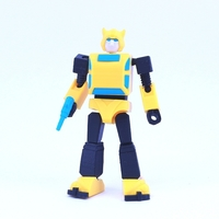 Small ARTICULATED G1 BUMBLEBEE - NO SUPPORT 3D Printing 250028