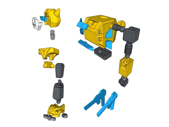 ARTICULATED G1 BUMBLEBEE - NO SUPPORT 3D Print 250038