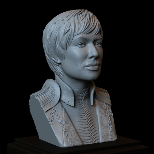 Cersei Lannister of Game of Thrones, portrait, bust, 200 mm tall 3D Print 250097