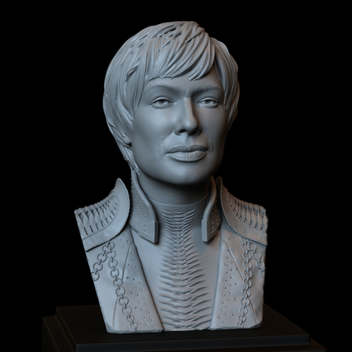 Cersei Lannister of Game of Thrones, portrait, bust, 200 mm tall 3D Print 250098