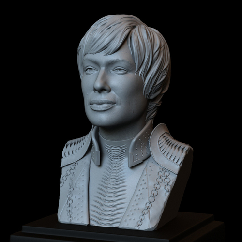Cersei Lannister of Game of Thrones, portrait, bust, 200 mm tall 3D Print 250099