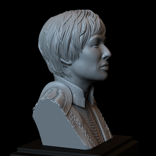 Cersei Lannister of Game of Thrones, portrait, bust, 200 mm tall 3D Print 250102
