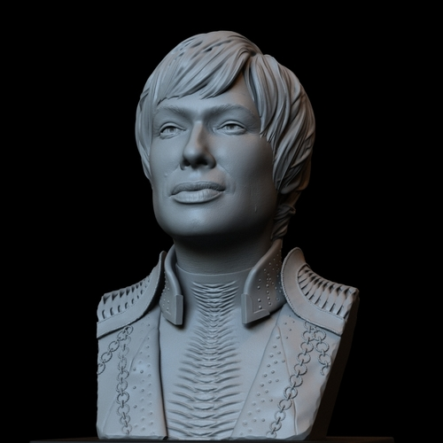 Cersei Lannister of Game of Thrones, portrait, bust, 200 mm tall 3D Print 250104