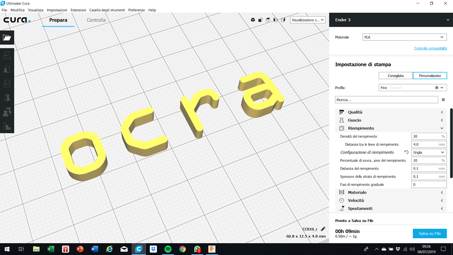 OCRA font uppercase and lowercase 3D letters STL file 3D Print 250154