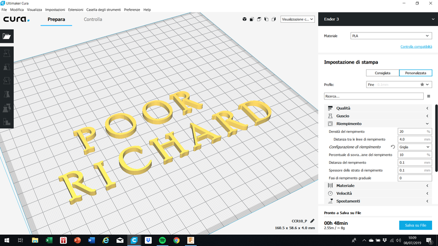 POOR RICHARD font uppercase and lowercase 3D letters STL file 3D Print 250157