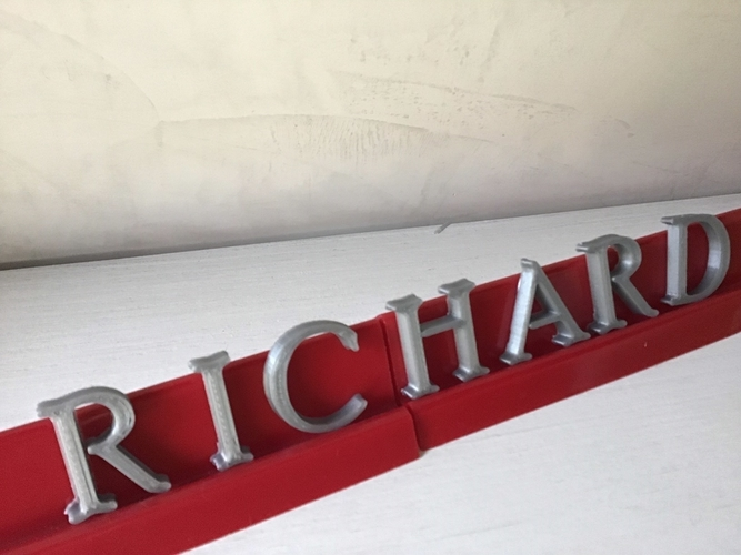 POOR RICHARD font uppercase and lowercase 3D letters STL file 3D Print 250158