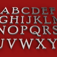 Small POOR RICHARD font uppercase and lowercase 3D letters STL file 3D Printing 250160