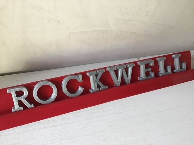 ROCKWELL font uppercase and lowercase 3D letters STL file 3D Print 250167
