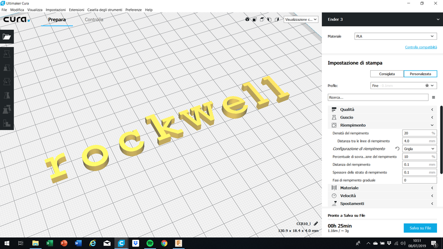 ROCKWELL font uppercase and lowercase 3D letters STL file 3D Print 250168