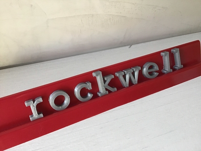 ROCKWELL font uppercase and lowercase 3D letters STL file 3D Print 250170