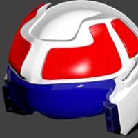 Small Robotech helmet for cosplay  3D Printing 250171