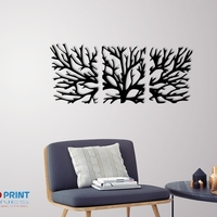 Small WALL TREE BRANCHES  3D Printing 250187