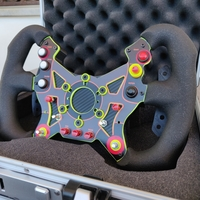 Small DimSim R1 Steering Wheel Enclosure and Paddle Shifters 3D Printing 250250