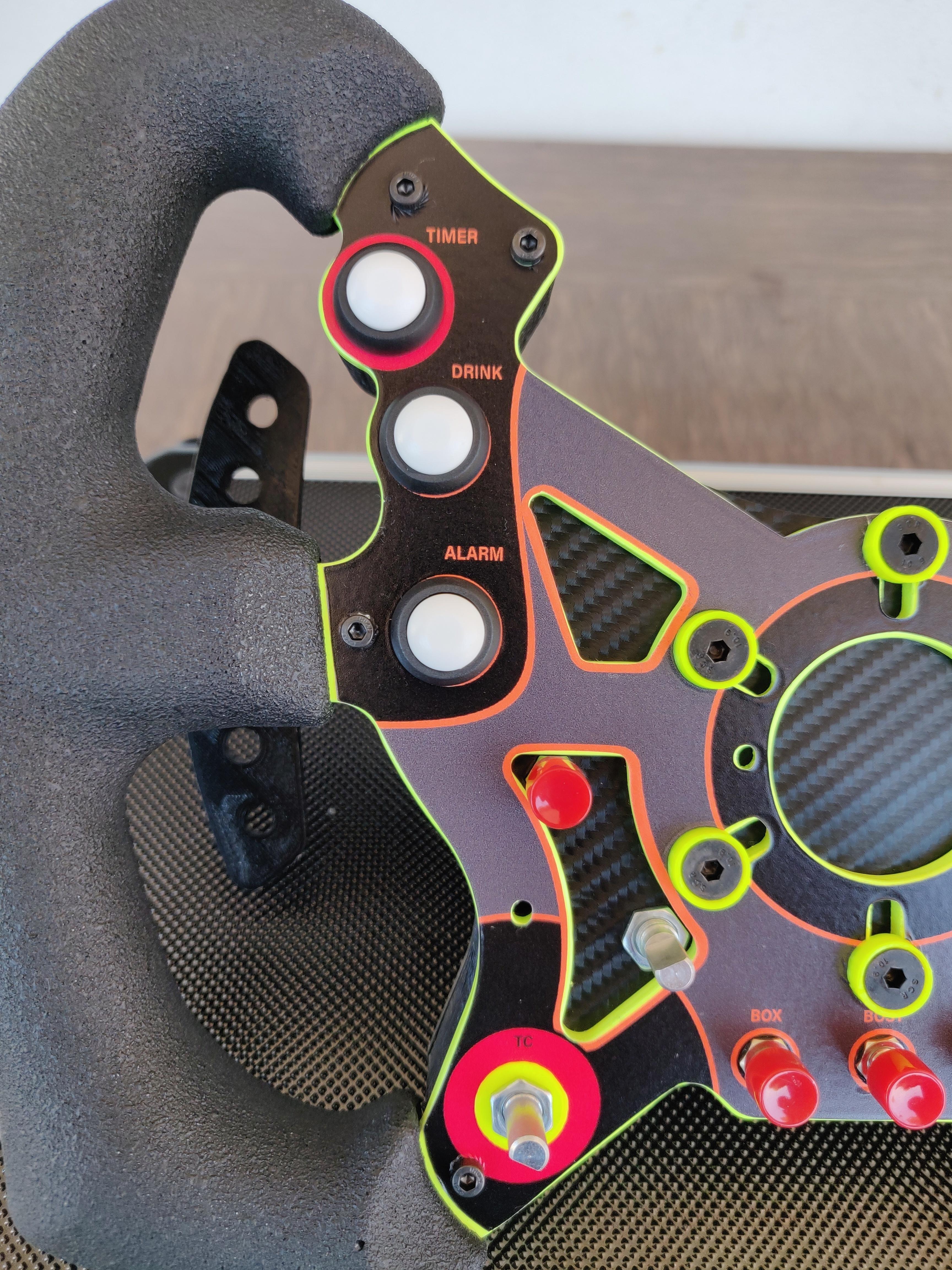 DimSim R1 Steering Wheel Enclosure and Paddle Shifters @ Pinshape