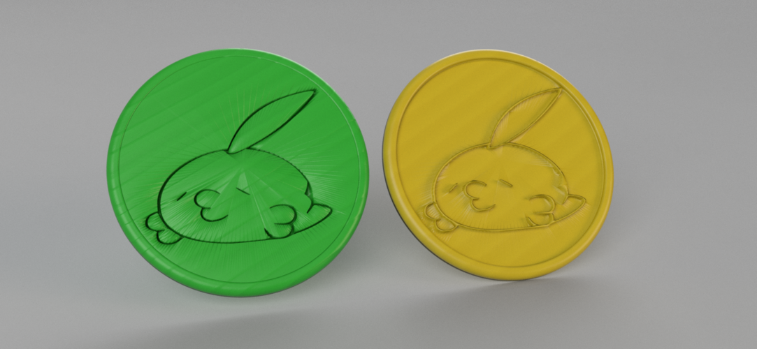 Gulpin pokemon coasters (pair) 3D Print 250283