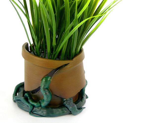 Cracked Flower Pot 3D Print 25034