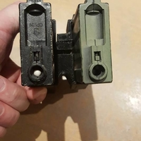 Small M4/AR15 Airsoft double mag clip 3D Printing 250350