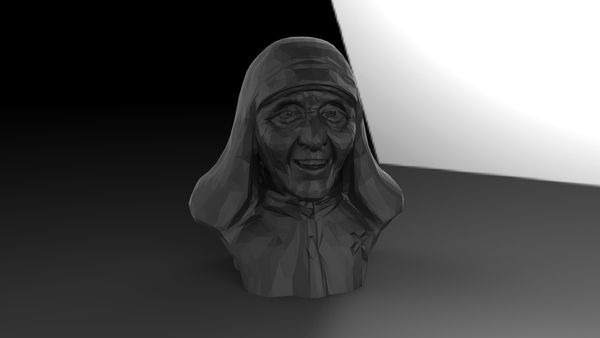Medium Mother Theresa 3D Printing 25039