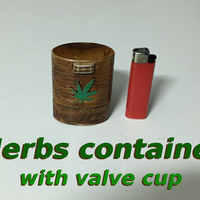 Small Herb container with valve cup opening v2 3D Printing 250395