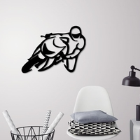 Small Motorbike racer wall decoration  3D Printing 250474
