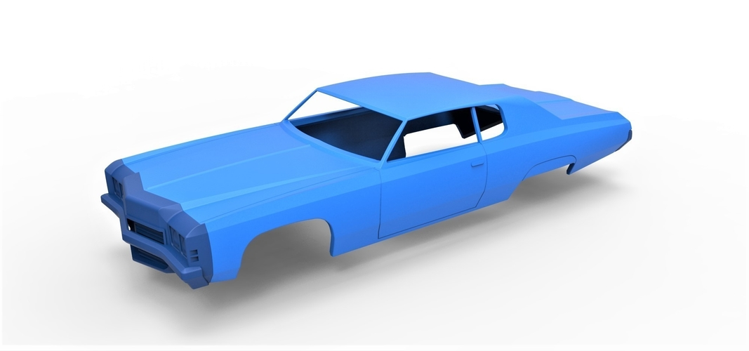 Diecast shell Chevrolet Impala 1972 Scale 1 to 20 3D Print 250476