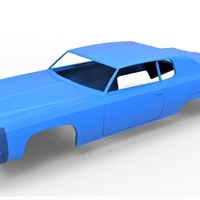 Small Diecast shell Chevrolet Impala 1972 Scale 1 to 20 3D Printing 250476