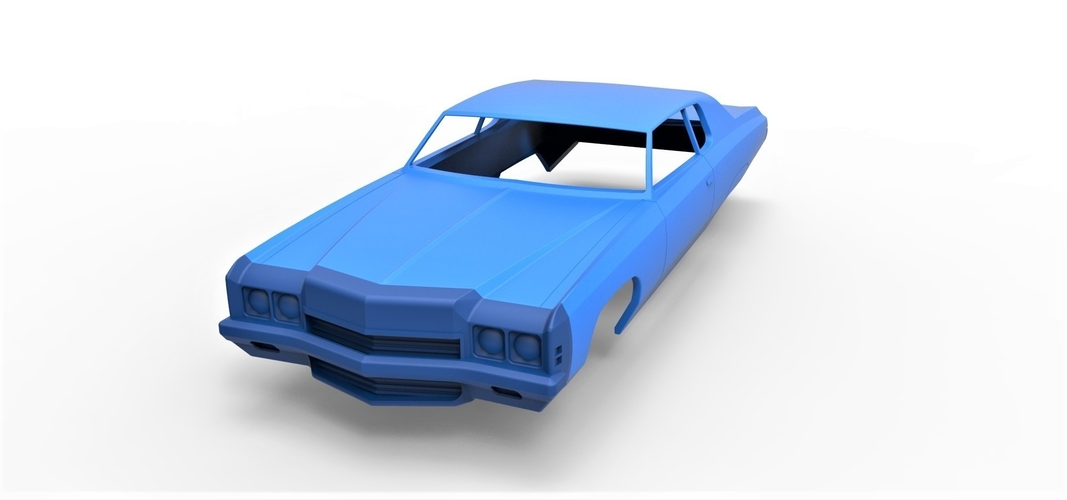Diecast shell Chevrolet Impala 1972 Scale 1 to 20 3D Print 250478