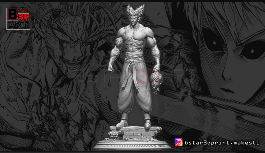 ​Garou - One punch Man - Fan Art - Realistic Version 3D Print 250535