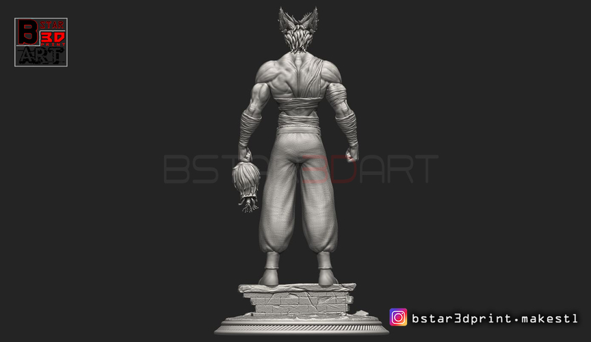 ​Garou - One punch Man - Fan Art - Realistic Version 3D Print 250538