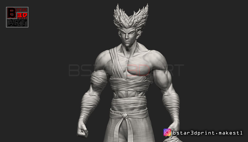 ​Garou - One punch Man - Fan Art - Realistic Version 3D Print 250541